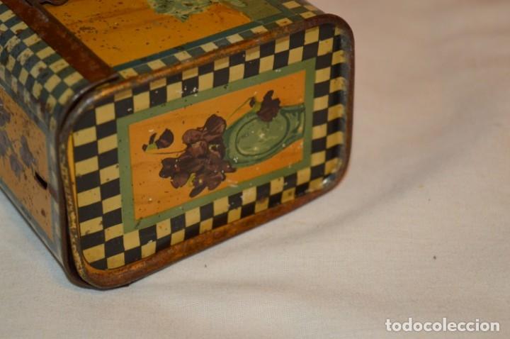 Cajas y cajitas metálicas: ANTIGUO CABAS DE HOJALATA LITOGRAFIADA - G. DE ANDREIS BADALONA - VINTAGE - ¡HAZ OFERTA! - Foto 5 - 178604207