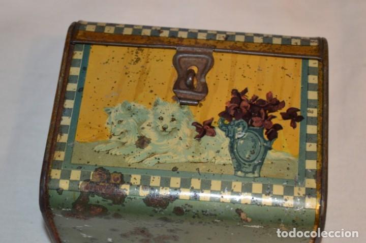 Cajas y cajitas metálicas: ANTIGUO CABAS DE HOJALATA LITOGRAFIADA - G. DE ANDREIS BADALONA - VINTAGE - ¡HAZ OFERTA! - Foto 6 - 178604207