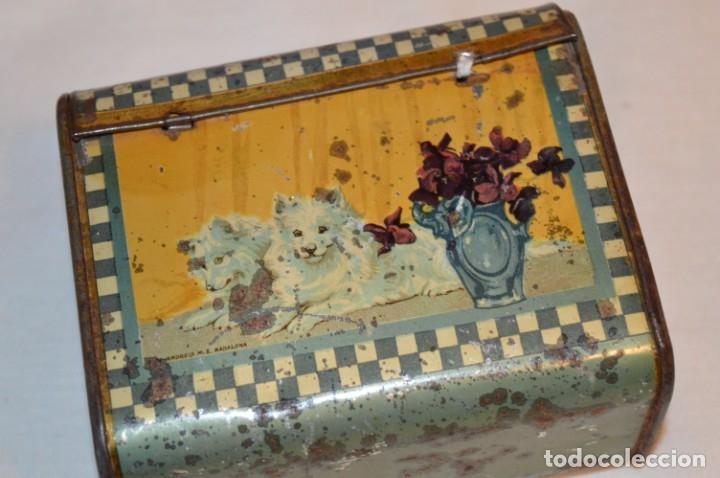 Cajas y cajitas metálicas: ANTIGUO CABAS DE HOJALATA LITOGRAFIADA - G. DE ANDREIS BADALONA - VINTAGE - ¡HAZ OFERTA! - Foto 7 - 178604207
