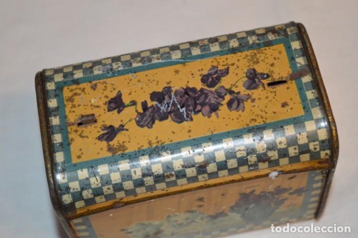 Cajas y cajitas metálicas: ANTIGUO CABAS DE HOJALATA LITOGRAFIADA - G. DE ANDREIS BADALONA - VINTAGE - ¡HAZ OFERTA! - Foto 8 - 178604207
