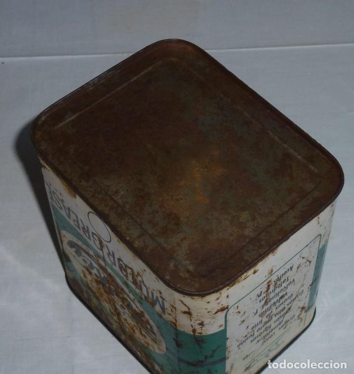 Cajas y cajitas metálicas: Antigua lata de Lubricantes Jockey. - Foto 6 - 178672186