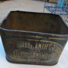Cajas y cajitas metálicas: LATA DE ANCHOAS SACCO & Cº VIGO. Lote 178734603