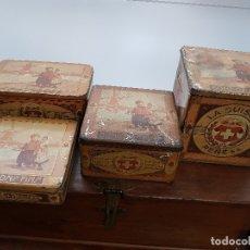 Boîtes et petites boîtes métalliques: COLECCION ANTIGUAS CAJAS HOJALATA BOMBONES FINOS LA SUISSE REÑE. Lote 178805360