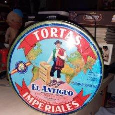 Cajas y cajitas metálicas: LATA DE TORTAS IMPERIALES EL ANTIGUO.TURRÓN ESPAÑOL.JIJONA ESPAÑA.RARA.. Lote 179034437