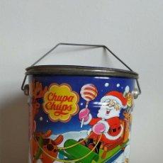 Cajas y cajitas metálicas: BOTE, LATA DE CHUPA CHUPS. ESPECIAL NAVIDAD. . Lote 179063470