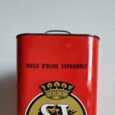 Cajas y cajitas metálicas: BOTE DE ACEITE DE OLIVA SI, 5 LITROS. ENVASADO POR UNION, AGRARIA COOPERATIVA, REUS. . Lote 179071747