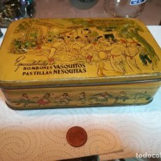 Cajas y cajitas metálicas: CAJA METÁLICA CONFITURAS GOYA, VITORIA. PRESIOSA SERIGRAFÍA. Lote 179140532