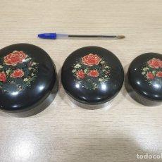 Cajas y cajitas metálicas: JUEGO DE 3 CAJAS REDONDAS FABRICADAS EN CHINA. Lote 179169811