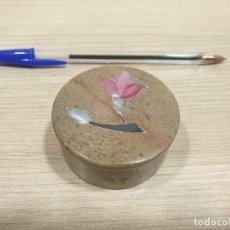 Cajas y cajitas metálicas: CAJITA DE MARMOLINA FABRICADA EN INDIA. Lote 179170626