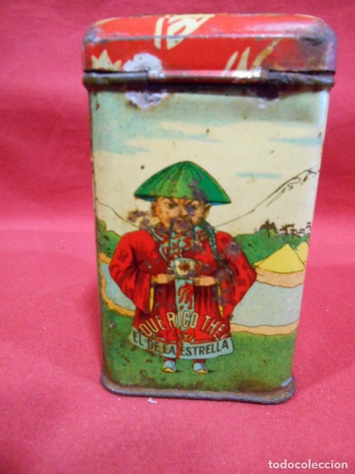 Cajas y cajitas metálicas: ANTIGUA CAJA METALICA TE (QUE RICO THE EL DE LA ESTRELLA) JOSE GOMEZ TEJEDOR, BADAJOZ - AñOS 30 - - Foto 4 - 179188666