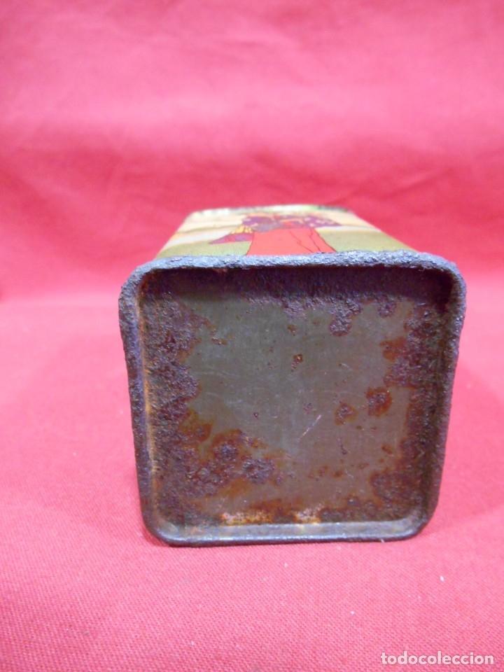 Cajas y cajitas metálicas: ANTIGUA CAJA METALICA TE (QUE RICO THE EL DE LA ESTRELLA) JOSE GOMEZ TEJEDOR, BADAJOZ - AñOS 30 - - Foto 6 - 179188666