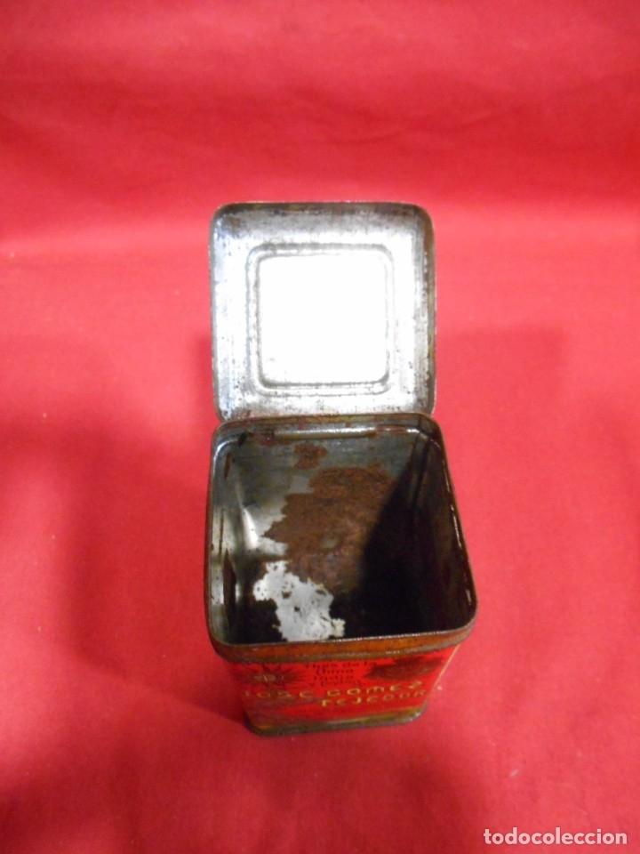 Cajas y cajitas metálicas: ANTIGUA CAJA METALICA TE (QUE RICO THE EL DE LA ESTRELLA) JOSE GOMEZ TEJEDOR, BADAJOZ - AñOS 30 - - Foto 7 - 179188666