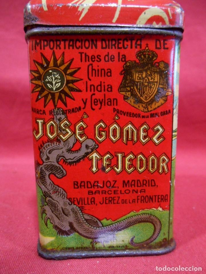 Cajas y cajitas metálicas: ANTIGUA CAJA METALICA TE (QUE RICO THE EL DE LA ESTRELLA) JOSE GOMEZ TEJEDOR, BADAJOZ - AñOS 30 - - Foto 8 - 179188666