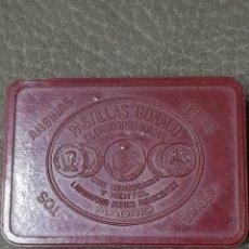 Cajas y cajitas metálicas: CAJA DE PASTILLAS BONALD ROJA. Lote 179196678