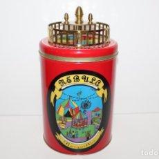 Cajas y cajitas metálicas: LATA BARQUILLERA METALICA LITOGRAFIADA BARQUILLOS NEBUSA. Lote 179531370