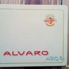 Cajas y cajitas metálicas: TABACO ALVARO CAJA METALICA. Lote 179540203