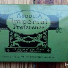 Cajas y cajitas metálicas: TABACO CIGARRILLOS ABDULLA IMPERIAL PREFERENCE LONDRES CAJA METALICA. Lote 179540421