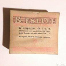Cajas y cajitas metálicas: ANTIGUA CAJA DE MEDICAMENTO B1 ESTEVE. Lote 179544942