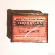 Cajas y cajitas metálicas: CAJA DE MEDICAMENTO YODORGAN. Lote 179545568