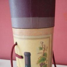 Cajas y cajitas metálicas: CAJA DE BOTELLA DE VINO. Lote 180115600