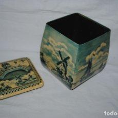 Cajas y cajitas metálicas: ANTIGUA LATA DE TE HOLANDESA .. Lote 180157427