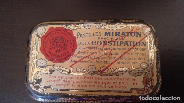 Cajas y cajitas metálicas: CAJITA DE LATON MEDICAMENTO LAXATIF MIRATON- BALNEARIO Chatel Guyon - Foto 2 - 180296000