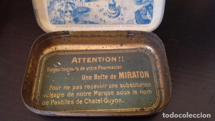 Cajas y cajitas metálicas: CAJITA DE LATON MEDICAMENTO LAXATIF MIRATON- BALNEARIO Chatel Guyon - Foto 3 - 180296000