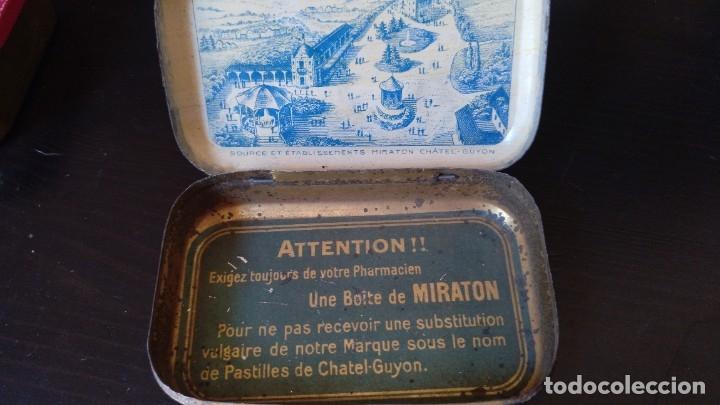 Cajas y cajitas metálicas: CAJITA DE LATON MEDICAMENTO LAXATIF MIRATON- BALNEARIO Chatel Guyon - Foto 4 - 180296000
