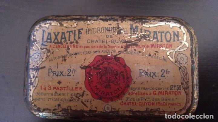 Cajas y cajitas metálicas: CAJITA DE LATON MEDICAMENTO LAXATIF MIRATON- BALNEARIO Chatel Guyon - Foto 5 - 180296000
