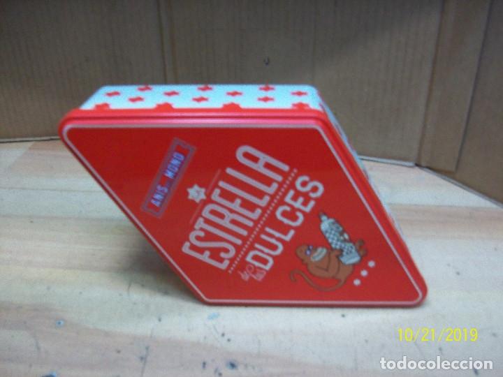 Cajas y cajitas metálicas: CAJA ROMBOIDAL DE ANIS EL MONO - Foto 2 - 180340072