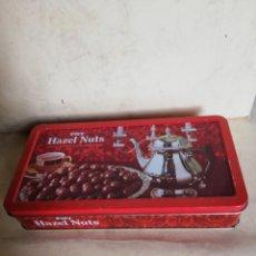 Cajas y cajitas metálicas: FRY HAZEL NUTS - CHOCOLATE. Lote 180447246