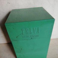 Cajas y cajitas metálicas: CAJA METÁLICA DE LA REVISTA TELVA PARA COLECCIONAR FICHAS DE COCINA. Lote 180450162