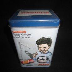 Cajas y cajitas metálicas: CAJA METÁLICA GALLETAS CHIQUILIN. Lote 180512541