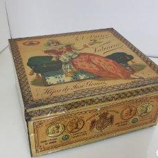Cajas y cajitas metálicas: CAJA METÁLICA EL BARCO CHOCOLATES DE VALENCIA HIJOS DE JOSÉ GÓMEZ PROVEEDORES DE LA REAL CASA 19X17C. Lote 180863258