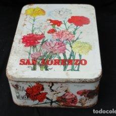 Cajas y cajitas metálicas: CAJA METÁLICA MEMBRILLO SAN LORENZO. PUENTE GENIL. CAMPAÑA 1974-75.. Lote 181219542