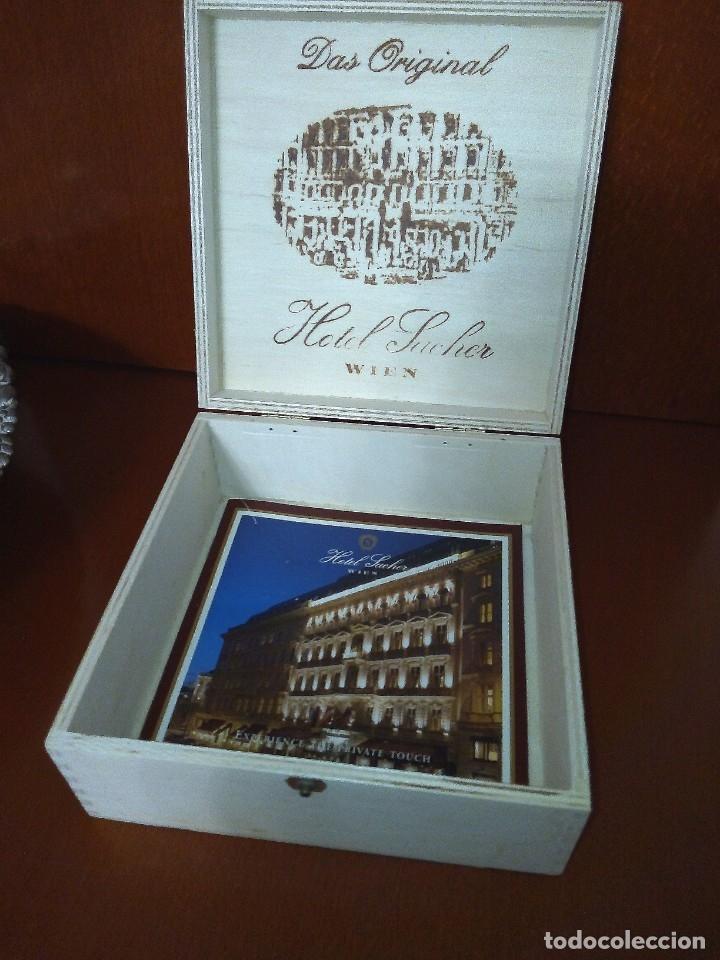 Cajas y cajitas metálicas: caja de madera Hotel Sacher de Viena - Foto 2 - 181397611