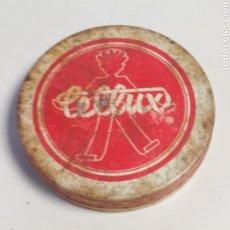 Cajas y cajitas metálicas: LATA CINTA ADHESIVA CELLUX AÑOS 50/60. Lote 181407631