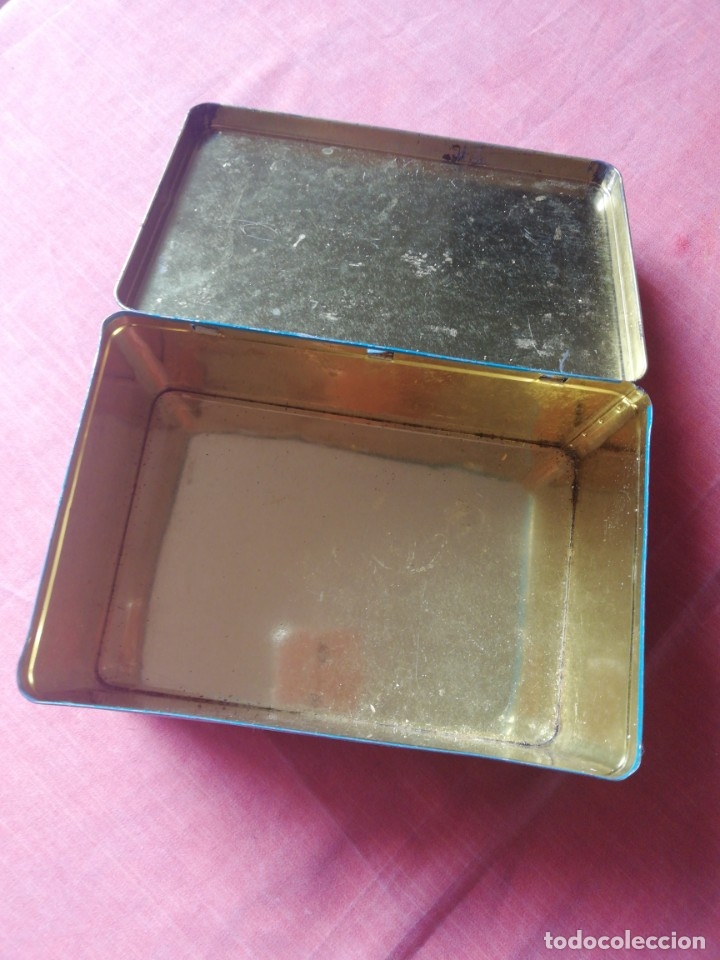 Cajas y cajitas metálicas: Lata de cola-cao para guardar cartas - Foto 4 - 80649070