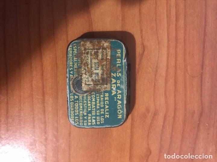 Cajas y cajitas metálicas: ANTIGUA CAJA METAL ZARA PERLAS DE ARAGON (PASTILLAS) ZARAGOZA - Foto 2 - 181540790