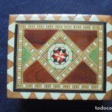 Cajas y cajitas metálicas: CAJA MARQUETERÍA. Lote 181564752