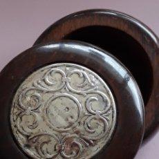 Cajas y cajitas metálicas: CAJA DE MADERA Y PLATA. Lote 181681841