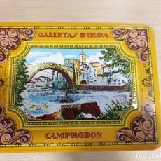 Cajas y cajitas metálicas: CAJA DE HOJALATA - GALLETAS BIRBA. Lote 181876377