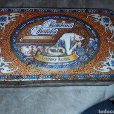 Cajas y cajitas metálicas: CAJA DE HOJALATA BOMBONES VALOR. Lote 181885732
