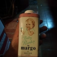Cajas y cajitas metálicas: ANTIGUO ENVASE LATA POLVO DE TALCO MARGO.. Lote 182430663