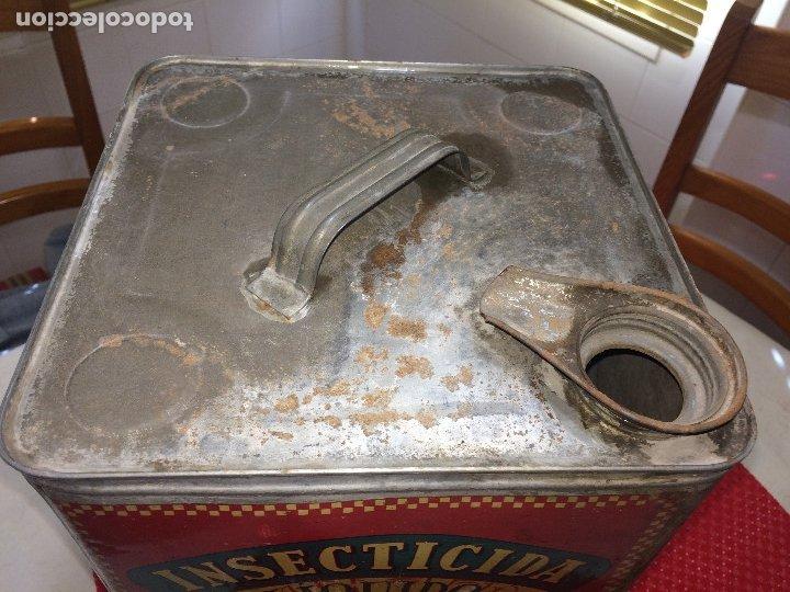 Cajas y cajitas metálicas: INSECTICIDA DINAMITA - LATA DE 10 LITROS VENTA A GRANEL - AÑOS 30 - ANTONIO CAUBET - Barcelona - Foto 8 - 182688948