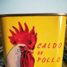 Cajas y cajitas metálicas: CAJA METÁLICA CALDO AVECREM GALLINA BLANCA. Lote 182751305