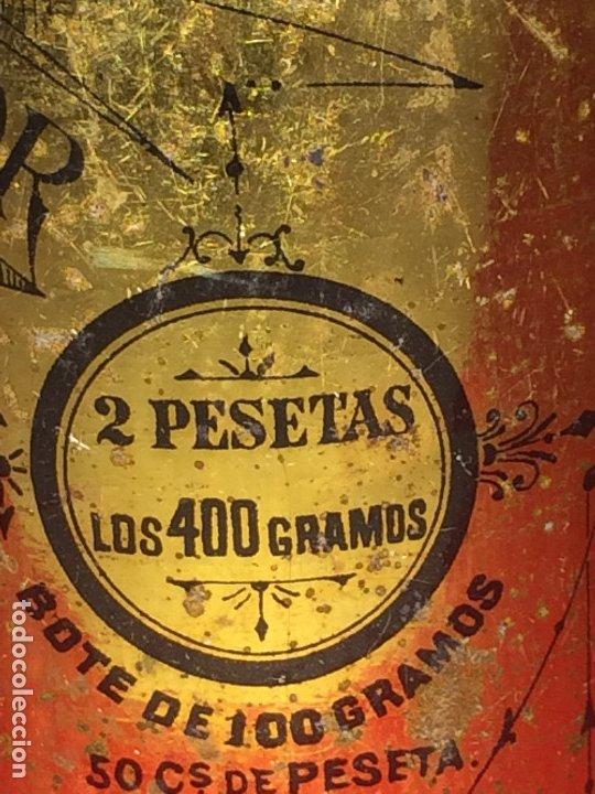 Cajas y cajitas metálicas: CAFÉ MOLIDO PURO SUPERIOR - MATIAS LOPEZ Y LOPEZ - MADRID - BOTE VACÍO - 400 GRAMOS - 2 PESETAS - Foto 4 - 183035781