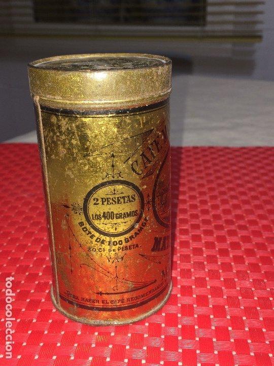 Cajas y cajitas metálicas: CAFÉ MOLIDO PURO SUPERIOR - MATIAS LOPEZ Y LOPEZ - MADRID - BOTE VACÍO - 400 GRAMOS - 2 PESETAS - Foto 5 - 183035781