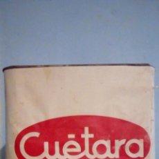 Cajas y cajitas metálicas: CAJA GALLETAS CUETARA METALICA CON SUS ETIQUETAS Y TAPA ORIGINAL 2,5 KGS RETORNABLE. Lote 183362936
