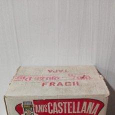 Cajas y cajitas metálicas: ANIS CASTELLANA CAJA DE CARTÓN ORIGINAL DE LA ÉPOCA. UNICA, MUY BIEN CONSERVADA. Lote 183431545